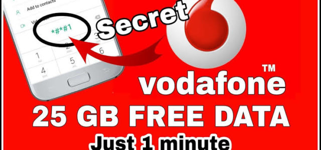 how to get free data in vodafone