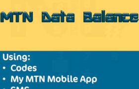 how to check data balance on MTN