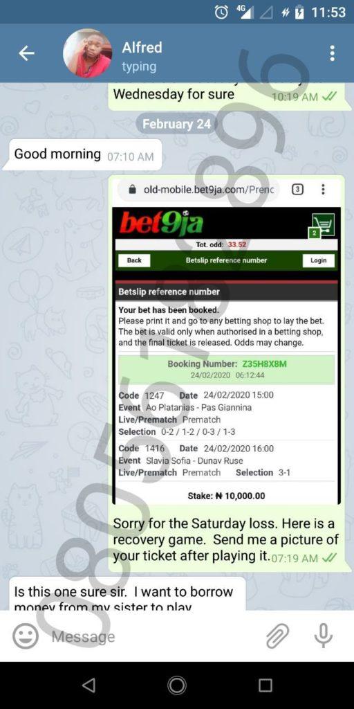 Telegram channel for soccer prediction