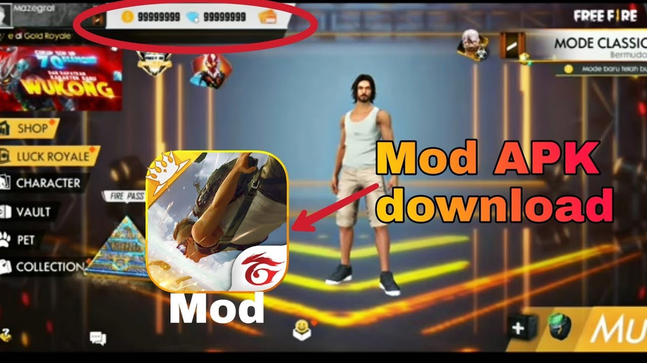 Download Garena Free Fire Mod Apk Unlimited Diamonds And Gold