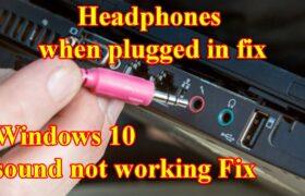 Headphone Jack Not Working PC
