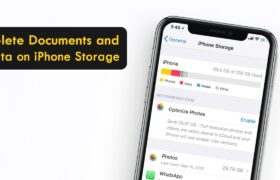 how to delete documents and data in iphone